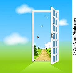 Tür zur Natur öffnen