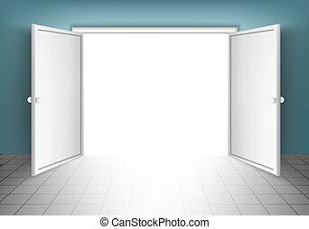 Türen öffnen, isoliert.