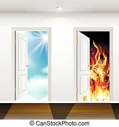 Türen zum Himmel und zur Hölle