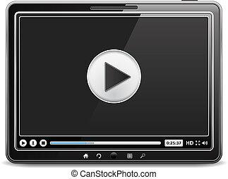 Tablet Computer mit Videospieler