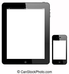 Tablet PC und Smartphone