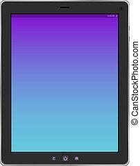 tablette, hintergruende, freigestellt, pc computer, weißes