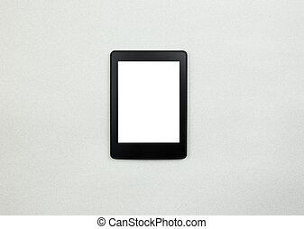 tablette pc, papier, hintergrund, leser, oder, e-book