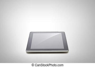 tablette, schirm, pc computer, schwarz, leer