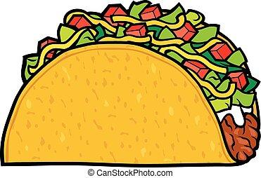 Taco - mexikanisches Essen.
