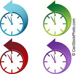 Tagsüber sparende Uhr.