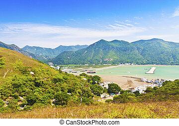 Tai O Landschaft aus den Bergen in Hong Kong