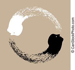 Taichi Yin und Yang.