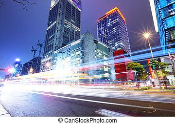 Taipeh City Street in der Nacht