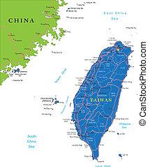 taiwan, landkarte