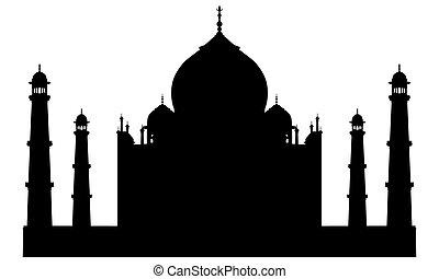 Taj Mahal Tempelsilhouette