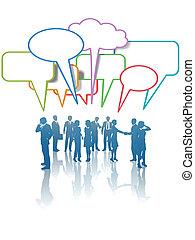 talk, leute geschäft, vernetzung, kommunikation, medien, farben