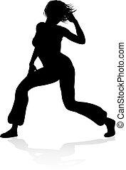 tanz, straße, silhouette, tänzer