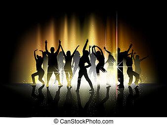 Tanz und Lichtshow