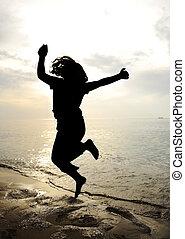 Tanz und spring, Silhouette