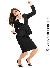 tanzen, person, glücklich, feiern, geschaeftswelt
