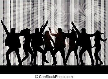 Tanzen Silhouetten.