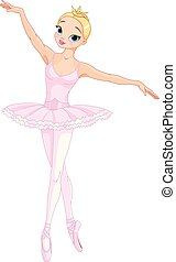 Tanzende Ballerina.