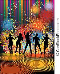 Tanzende Mädchen.