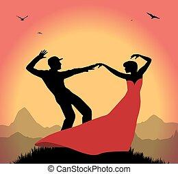 Tanzendes Paar.