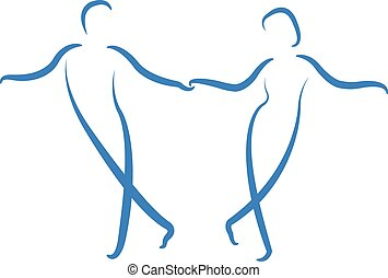 Tanzendes Paar-Logo.