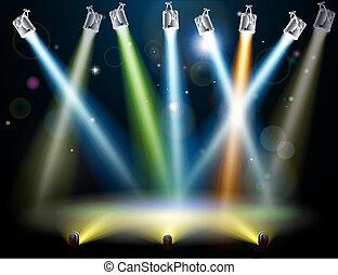 Tanzfläche oder Lampen