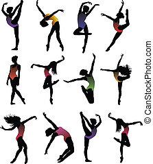Tanzmädchen, Ballett-Silhouette