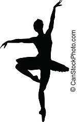 Tanzmädchen-Ballett-Silhouettes