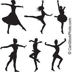 Tanzt Silhouette - Frau