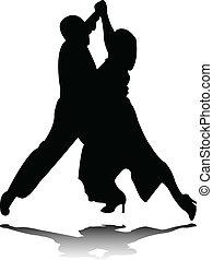 Tanzt Silhouette