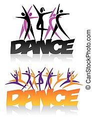 Tanzzeichen mit Tanzsymbolen