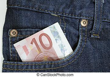 tasche, 10, euro