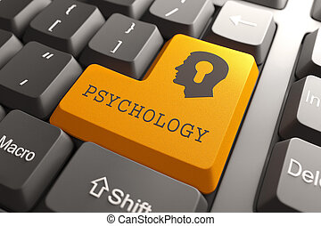tastatur, button., psychologie
