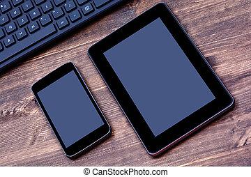 tastatur, pc computer, tablette, telefon
