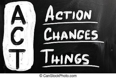 Taten ändern die Dinge