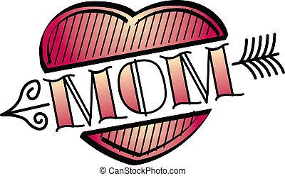 Tattoo-Design-Herz-Mom-Clip-Kunst