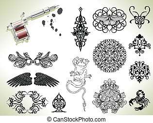 Tattoo-Flash-Elemente