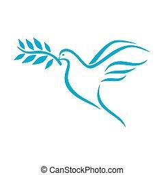 Taube des Friedens.
