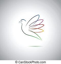 Taube und Frieden