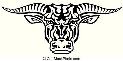 Tauruskopf-Tätowierung