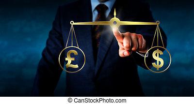 Tauscht das Pfund Sterling mit dem Dollar