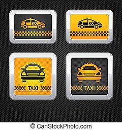 Taxi-Taxi-Knöpfe