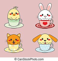 Teacup-Tiere