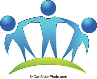 Team-Leute Firmenlogo.
