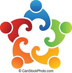 Team-Leute Gewerkschaft 5 Logo.