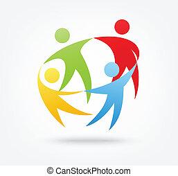 Teamarbeit Ikone