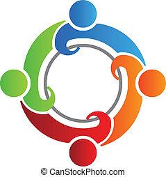 Teamtreffen 4 Logovektor