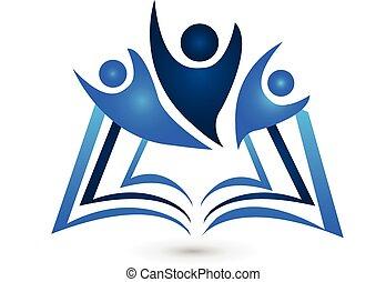 Teamwork Buch-Logo-Ausbildung.
