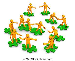 Teamwork Business Company, grünes Rätsel