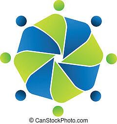 Teamwork Business Concept Logo.